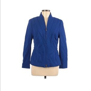 Escada Blue Zip Up Detailed Jacket 40